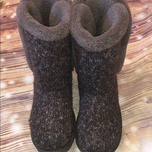 Grey Arizona Faux Fur Knit Boots